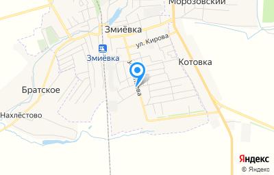 Местоположение на карте пункта техосмотра по адресу Орловская обл, пгт Змиёвка, ул Чапаева, д 48