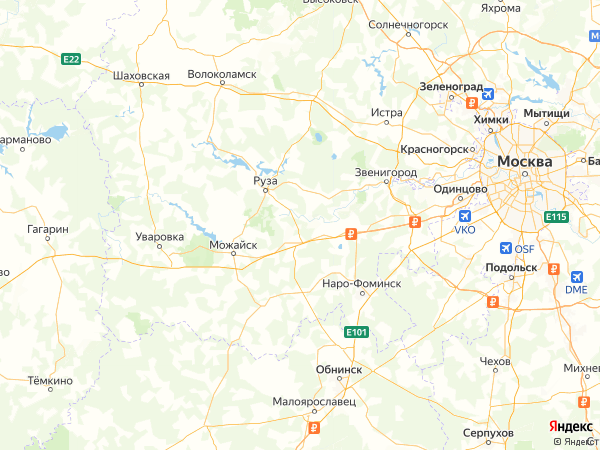 садовое товарищество Кунцево на карте