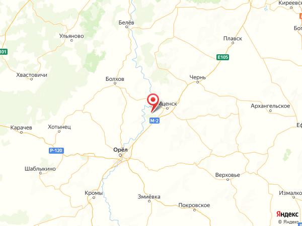 посёлок Красный на карте