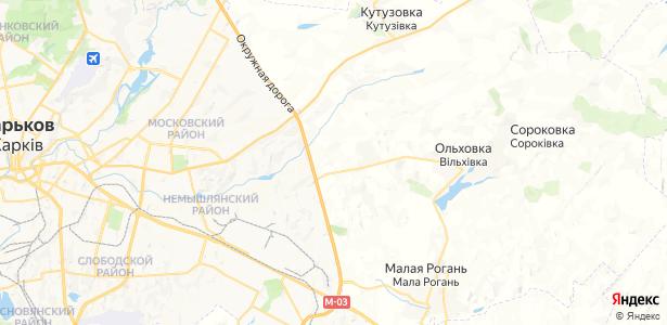 Зерновое на карте