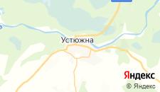 Гостиницы города Устюжна на карте