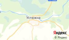 Отели города Устюжна на карте
