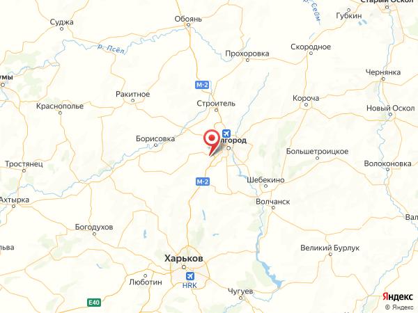 коттеджный поселок Комсомольский-50 на карте