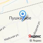 Администрация сельского поселения Пушкарное на карте Белгорода