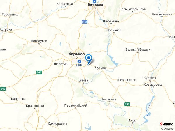 поселок Докучаевское на карте