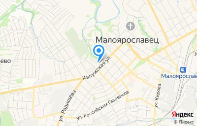 Местоположение на карте пункта техосмотра по адресу Калужская обл, г Малоярославец, ул Калужская, д 44