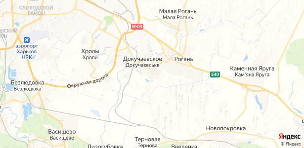 Докучаевское на карте
