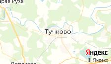 Базы отдыха города Тучково на карте