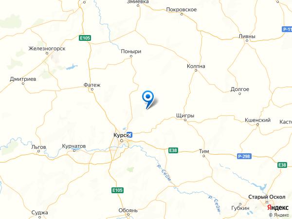 поселок 3-я Воробьевка на карте