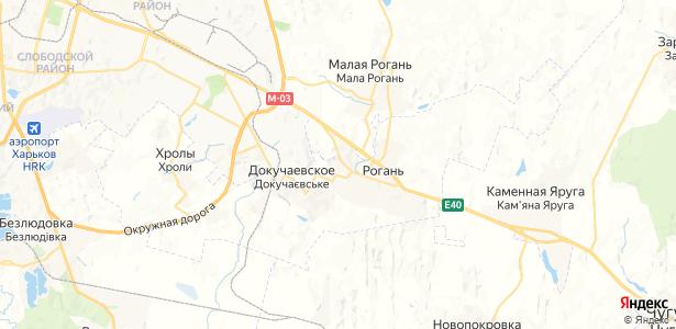 Рогань на карте