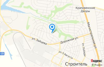 Местоположение на карте пункта техосмотра по адресу Белгородская обл, г Строитель, гск Надежда, д 690Б
