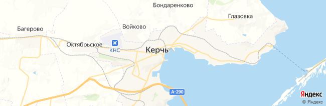 Керчь на карте
