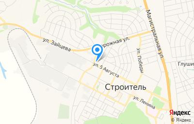 Местоположение на карте пункта техосмотра по адресу Белгородская обл, г Строитель, ул Зайцева, д 2Б