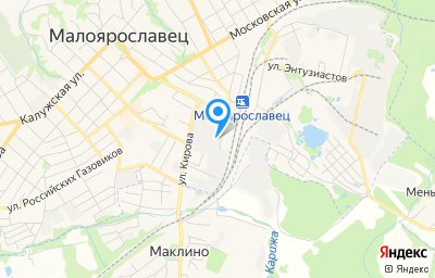Местоположение на карте пункта техосмотра по адресу Калужская обл, г Малоярославец, туп Маклинский, зд 12