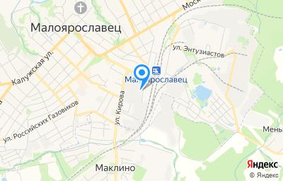 Местоположение на карте пункта техосмотра по адресу Калужская обл, г Малоярославец, ул Кирова, д 1