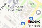 Схема проезда до компании Продуктовый магазин в Рогани