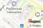 Схема проезда до компании Продовольственный магазин в Рогани