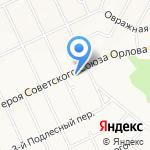 Комета на карте Белгорода