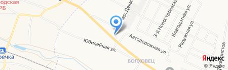 Мелис на карте Белгорода