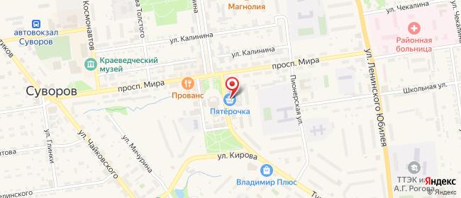 Карта расположения пункта доставки Халва в городе Суворов