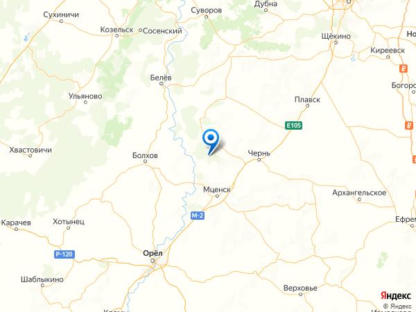 деревня Лунино на карте