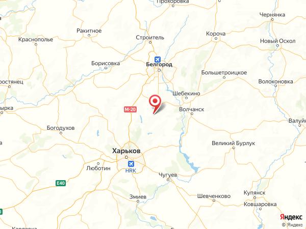 село Пыльная на карте