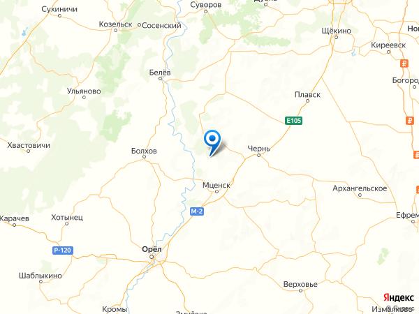 поселок Воробьевка на карте