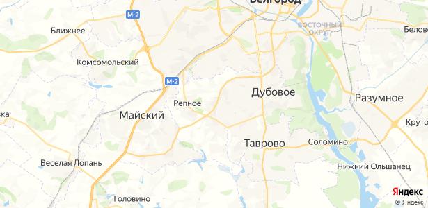 Репное на карте