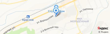 Пластрон на карте Белгорода