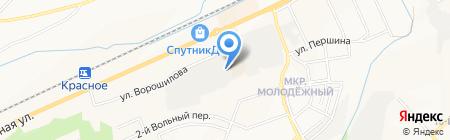 Солнечный Мир на карте Белгорода