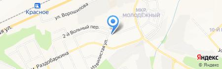 Жигулёнок на карте Белгорода