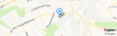 Автокомплекс на ул. Молодёжная 17в на карте Белгорода