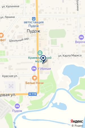ДЕТСКАЯ МУЗЫКАЛЬНАЯ ШКОЛА на карте Пудожа