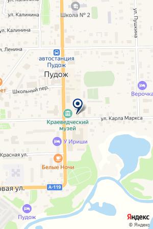 NMD. А.Ф. КОРАБЛЕВА на карте Пудожа