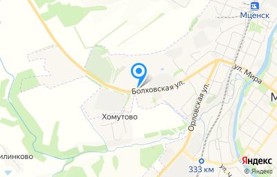 Местоположение на карте пункта техосмотра по адресу Орловская обл, г Мценск, ул Болховская, д 66