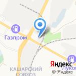 Отражение на карте Белгорода