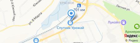 Спутник Урожай на карте Белгорода
