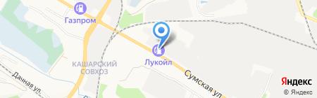 АЗС Лукойл на карте Белгорода