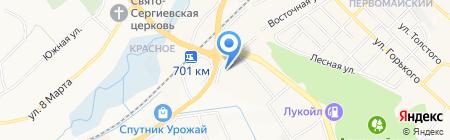 Фабрика лестниц на карте Белгорода