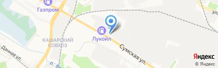 Автозапчасти на карте Белгорода