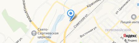 Резка стекла на карте Белгорода