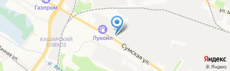 уДачный на карте Белгорода