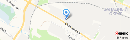 Строительно-монтажное управление №7 на карте Белгорода