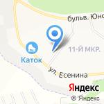 Зефир на карте Белгорода