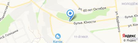 Автомойка на Бульваре Юности на карте Белгорода