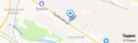 Белогорье на карте Белгорода