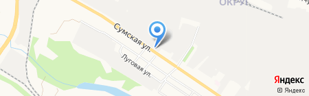 Фрунзенский на карте Белгорода