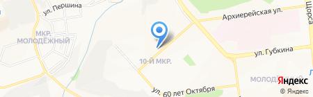 Магазин детских товаров на карте Белгорода
