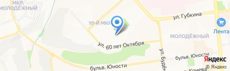 Лира на карте Белгорода