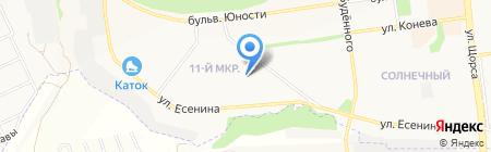 Сакура на карте Белгорода